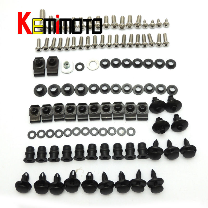 Motorcycle Fairing Bolt Screw Nuts Washers Fastener Fixation for SUZUKI GSX-R 600 750 GSXR 2006 2007 Full Kit FREE SHIPPING (6)
