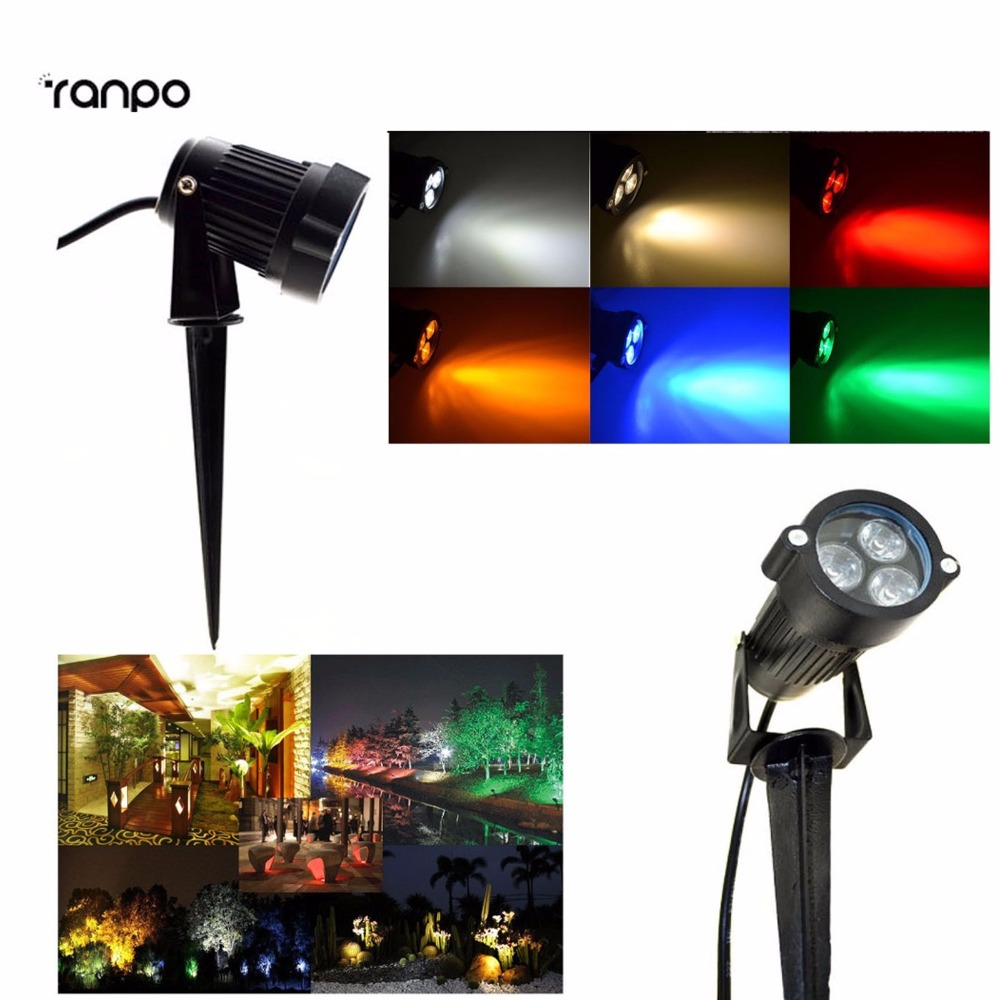 outdoor led 9w cool white warm white red yellow blue green ip65 waterproof flood lights garden. Black Bedroom Furniture Sets. Home Design Ideas