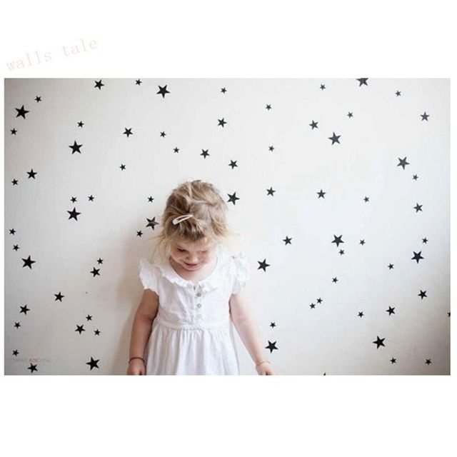 Gold Stars Pattern Wall Stickers for Kids Rooms