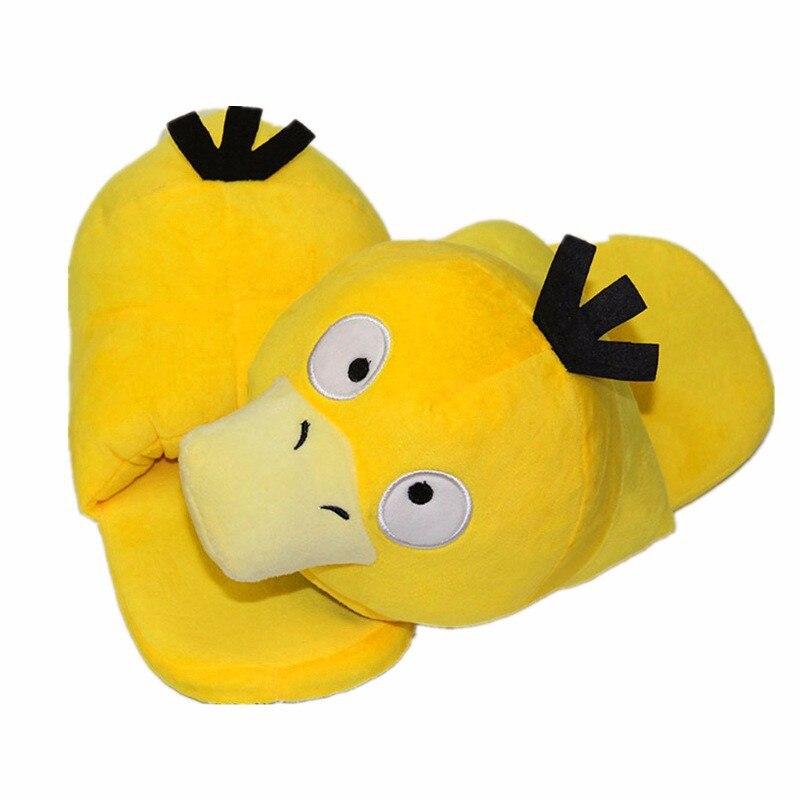 Pokemon pikachu Gengar Psyduck Snorlax Mudkip Plush Slippers Warm Cotton Shoes