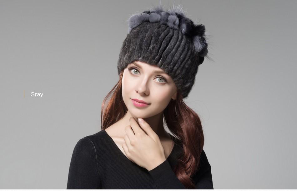 mink fur hats female winter PCM016 (19)