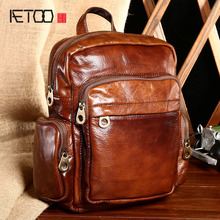 AETOO Новое лето кожа сумка кожа случайные рюкзак Корейский тенденции моды небольшой рюкзак
