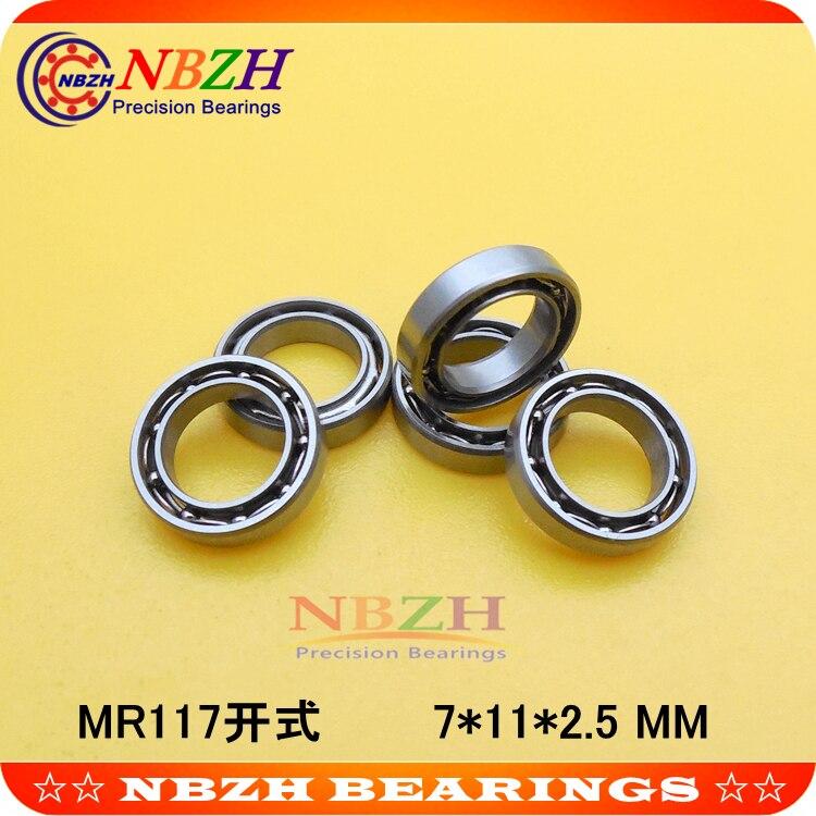 MR117 подшипник ABEC-5 7*11*2,5 мм миниатюрный MR117-открыть упорные шариковые подшипники L-1170 SMR117 MR117K SUS440C