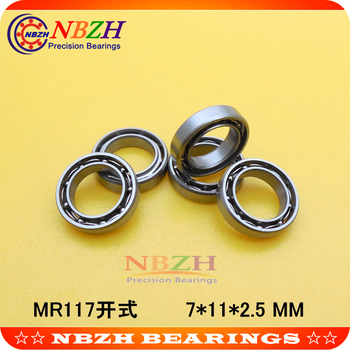 MR117 Bearing ABEC-5 7*11*2.5 mm Miniature MR117 - Open Ball Bearings L-1170 SMR117 MR117K SUS440C image