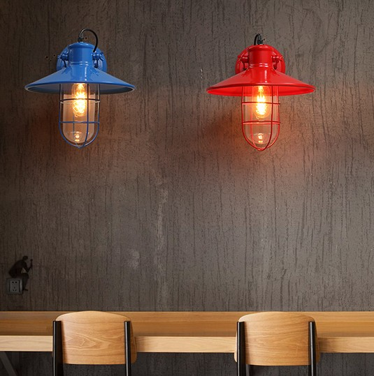 Loft Style Edison Wall Sconce Industrial Vintage Wall Light Fixtures For Antique Iron Cage Wall Lamps Indoor Lighting Lampara loft style iron edison wall sconce industrial lamp wheels vintage wall light fixtures antique indoor lighting lampara pared 220v