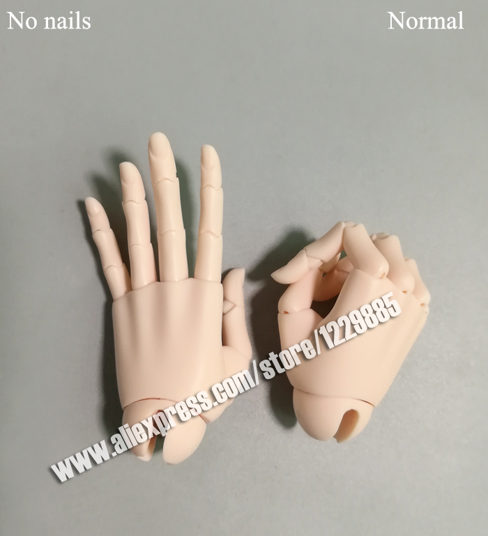 HeHe BJD sd jointed hands no veins for 1 3 male Dolls free shipping