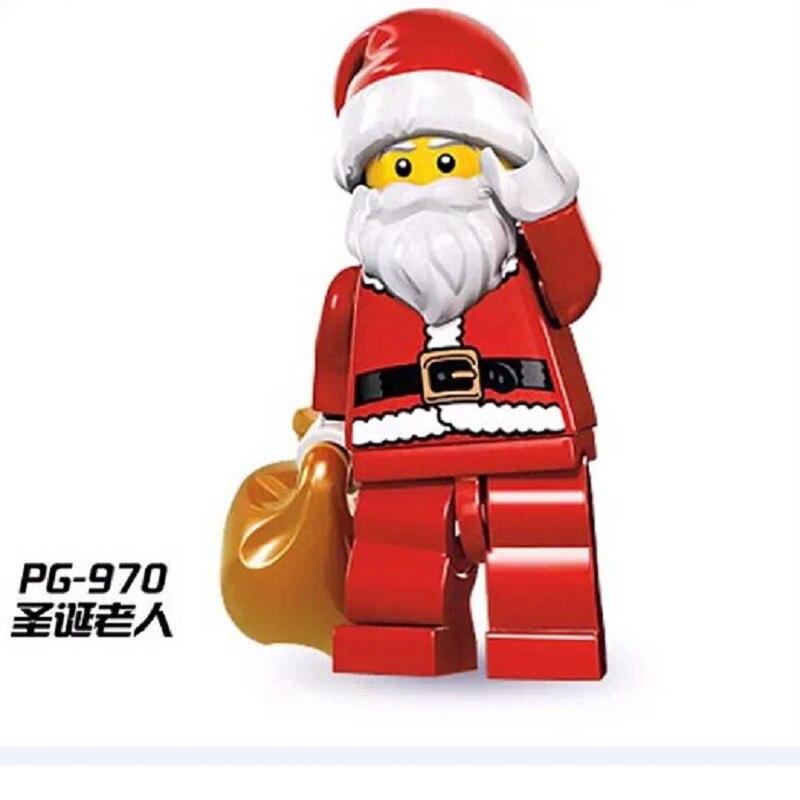 PG970 Бэтмен Супер герои цифры Рождество бабушка Санта Клаус Deadpool Movie Building Block Модель Кирпичи подарок для детей игрушки ...