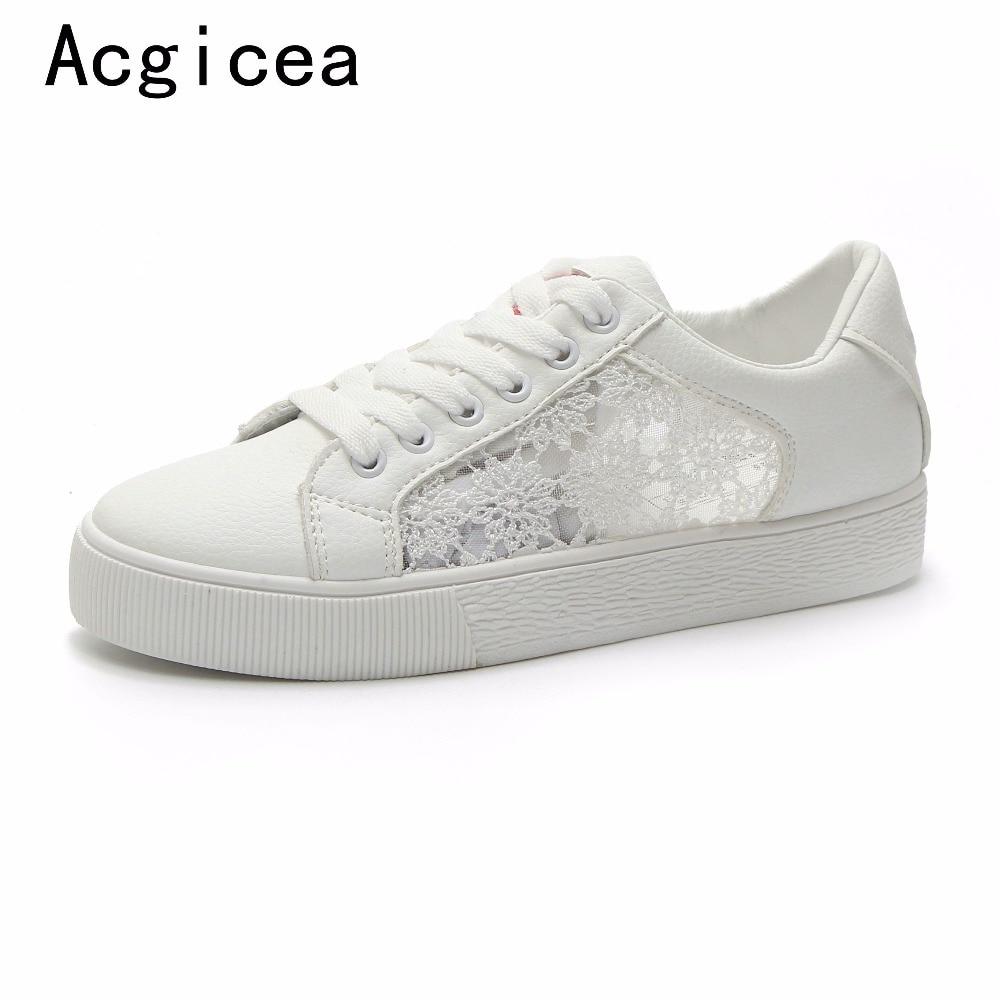 Sneakers Femmes 2017 ete Dentelle Respirant Luxe Sneaker Super Talons Hauts Elégant Plus Taille 35-40 Tz2OQzhKdC