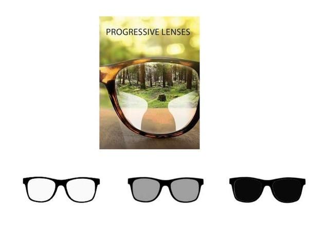 b47bf8351b 1,56 Índice de forma libre Multifocal Progresiva gafas de sol lentes  fotocromáticos gafas para