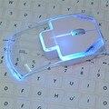 2.4 ГГц Беспроводной Немой Мышь Colorful Transparent LED Оптический Умный Соединение для PC Настольный Компьютер Портативный Ноутбук