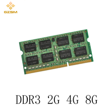 GZSM Laptop Memory DDR3 2GB 4GB 8GB Cards 1066MHz 1333MHz 1600MHz RAM 204pin for PC3 8500 10600 12800
