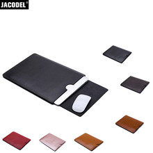 Jacodel Pu Leather Laptop Bag Sleeve Case for Macbook 12 Air 11 13 Pro 13 15 Protective Case Cover for Macbook Accessories Bags