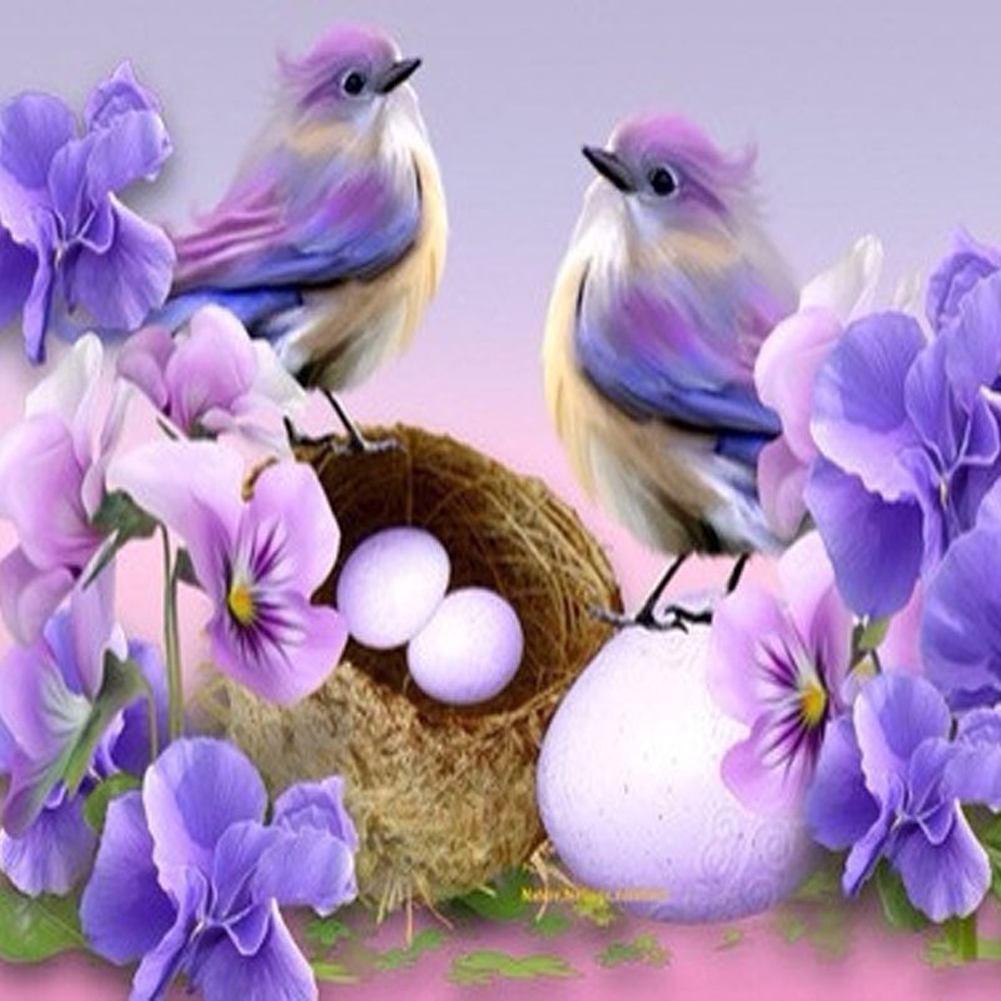 2017 New Cartoon Bird Diamond Embroidery DIY 5D Diamonds Painting Cross Stitch Kits for Mosaic Painting Home Living Wall Decor