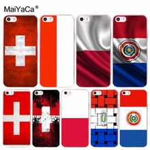MaiYaCa Nationale Vlag Polen Zwitserland Paraguay voor iPhone 4 4S 5 5S 6S 7 X XR XS MAX Telefoon gevallen transparant Soft TPU Cover Cases(China)