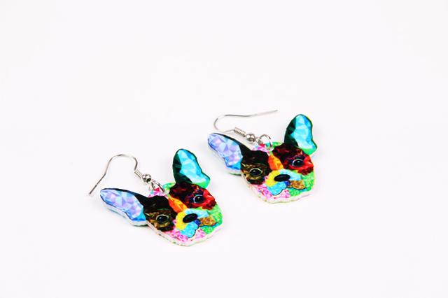 Women's Colorful Dog Shaped Earrings