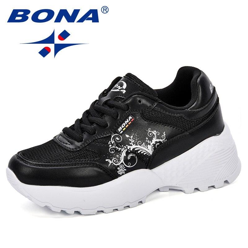 BONA New Designer Woman CasualShoes Breathable Sneakers Women New Arrivals Fashion Platform Ladies Shoes Comfortable Trendy 2