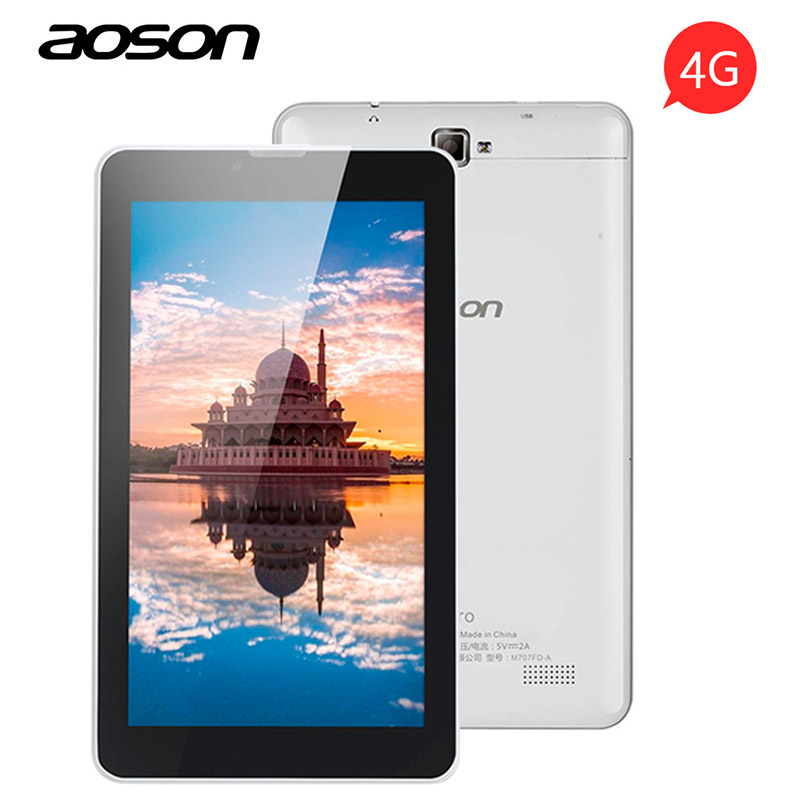 Aoson LTE-FD S7 PRO 7 pollice 4G Phone Call Tablets PC 1 GB + 8 GB Android 6.0 Dual SIM Card WiFi Bluetooth Phablet 1024*600 IPS schermo