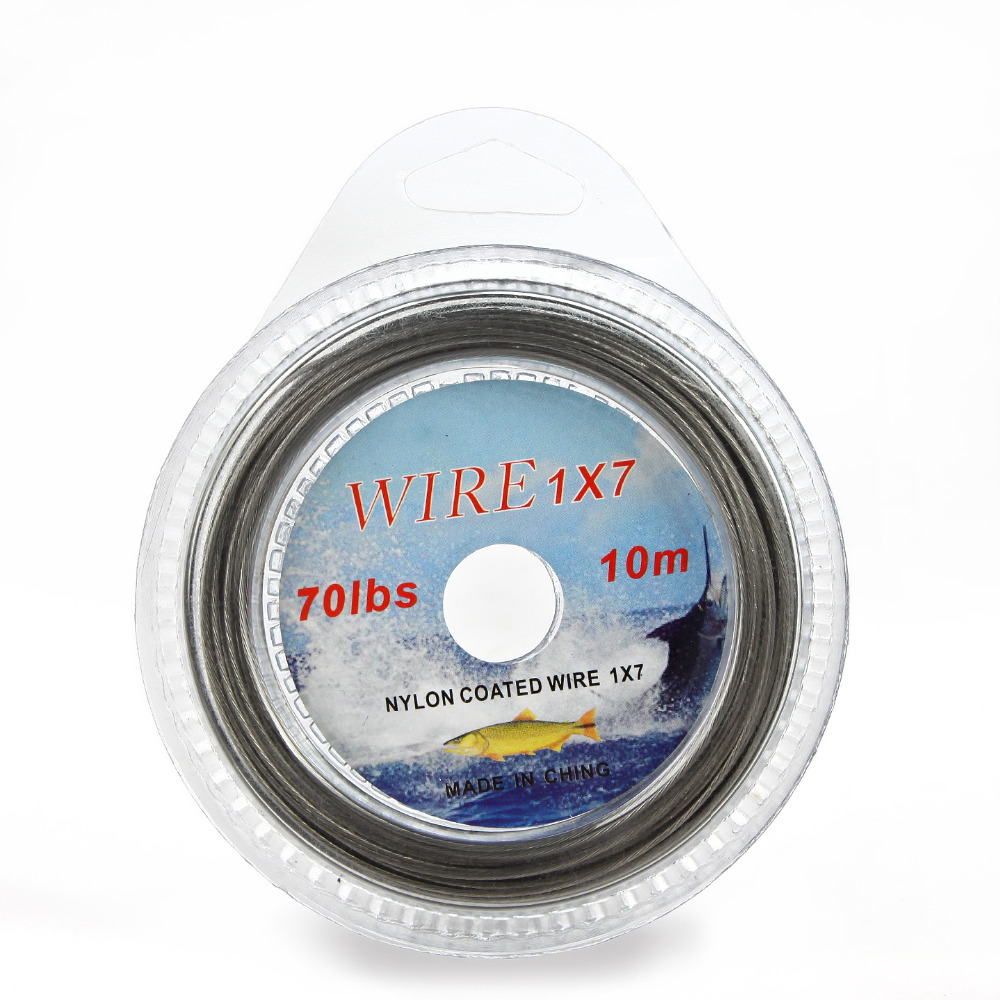 FISH KING 10M Nylon Coated Wire Fishing Line Max Power 7 Strands ...