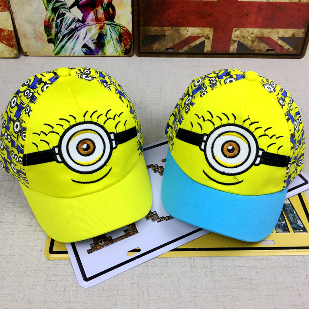 2019 New Cartoon New Minions   Caps   Pattern Adjustable Kids Girl Boy Hat Embroidery   Baseball     Caps   Hip-hop cosplay Hat