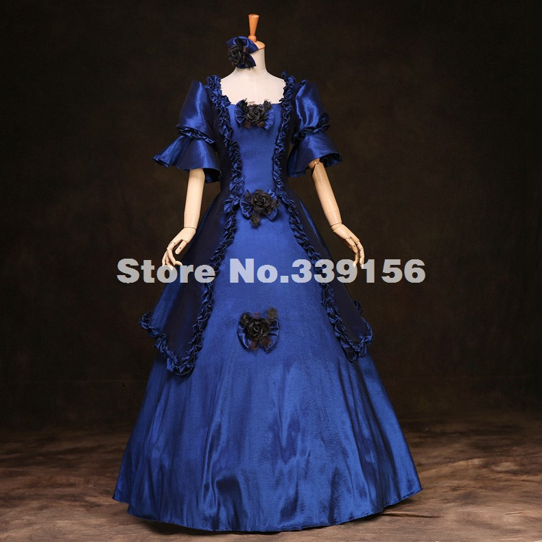 Holiday Weddings Victorian Era Period Dress Southern Belle Dress Halloween Vampire Dress(China)