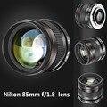 Neewer 85 мм f/1.8 Асферических Портрет Телефото Объектив для Nikon D5 D4S DF D750 D4 D800 D810 D610 D600 D500 D7200 D7100 D7000