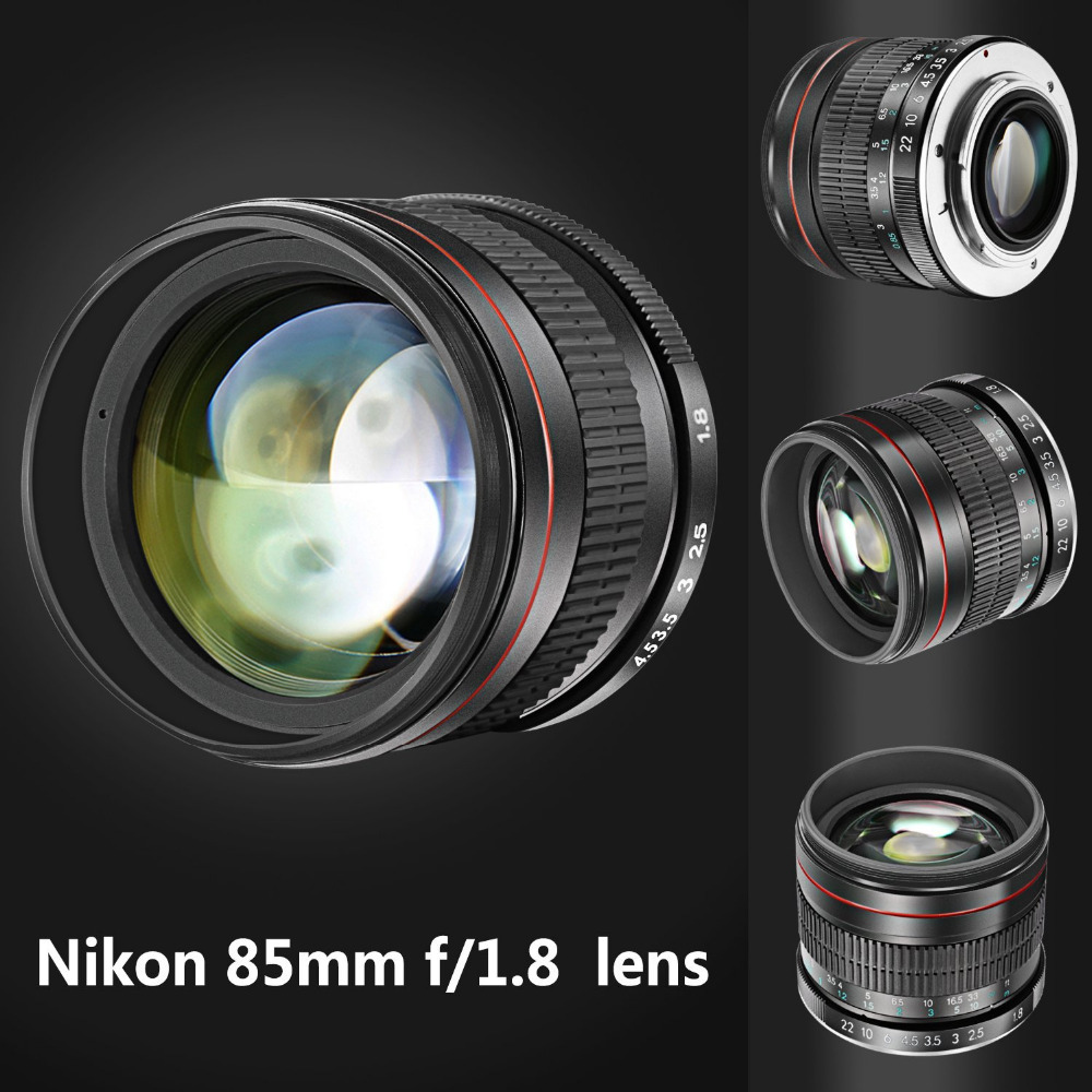 Neewer 85mm f/1.8 Portrait Aspherical Telephoto Lens for Nikon D5 D4 D810 D0800 D750 D610 For Canon80D 70D 60D 60Da 50D 7D 6D 5D image