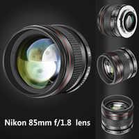 Nuevo 85mm f/retrato de 1,8 asférica teleobjetivo lente para Nikon D5 D4 D810 D0800 D750 D610 para Canon80D 70D 60D 60Da 50D 7D 6D 5D