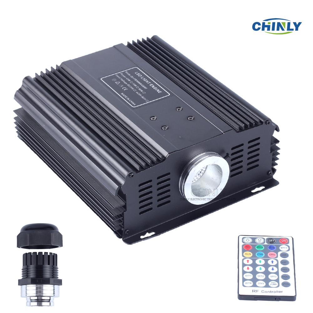 DMX 45W RGB Fiber Optic Engine Driver 28key RF Remote controller LED Light Source Available for