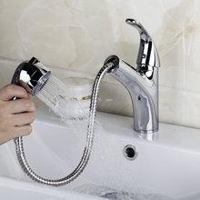 92418/8 Полированный Хром Водопад ванной бассейна кран Одной ручкой раковина Pull Down смесителем Новый