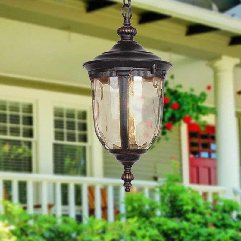 HAWBOIRRY européen extérieur lustre communauté jardin villa gazebo balcon couloir terrasse extérieur rétro suspension lampe