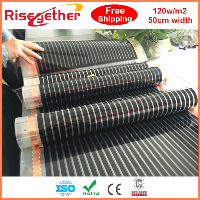 15m2 0.5m Width 120w/m2 Electric Carbon Heating Film Far Infrared Ray Radiant Under Tile Floor Heated Films DHL Free Shipping шкаф капри