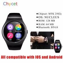 Neuesten Smart Uhr V365 Kreis Smartwatch Schrittzähler Fitness Tracker SIM TF Mobilen Uhr für IOS android Smart Uhr android