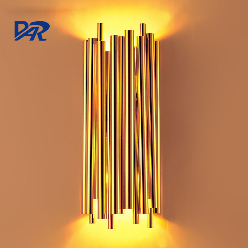 New Design Brubeck Wall Lamp Luxury Golden Aluminum Tube Industrial Wall Lights for Home Led Wall