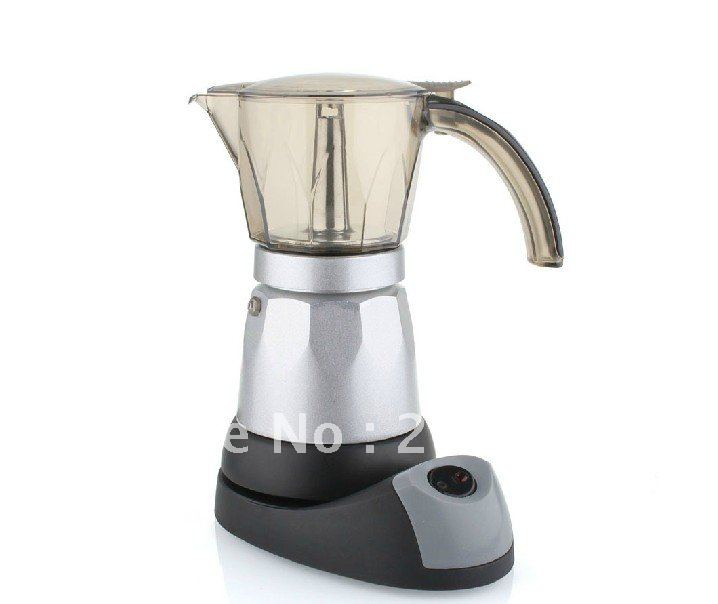 220vAutomatic Electric stovetop moka espresso coffee maker,Mocha coffee pot ,easy to use and safe,elegant design for present automatic electric stovetop espresso coffee maker moka coffee maker mocha coffee maker 6cups capacity mocha coffee