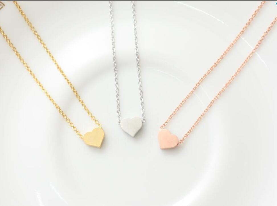 Long Chain Tiny Heart Shape Necklace