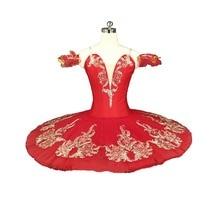 Red Flower Fairy Romance La Esmeralda Professional Ballet Tutu Costume Girls Kids Ballerina Sugar Plum Pancake tutu