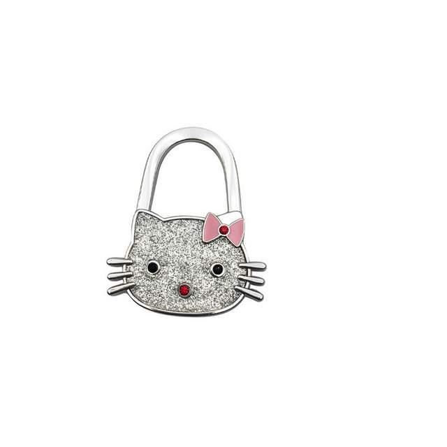 b55cfbd274a5 Online Shop 10pcs lot NEW Cartoon hello kitty bag hook handbag hook Folding  foldable Handbag Purse Bag Hanger Table Hook Hang Holder gift