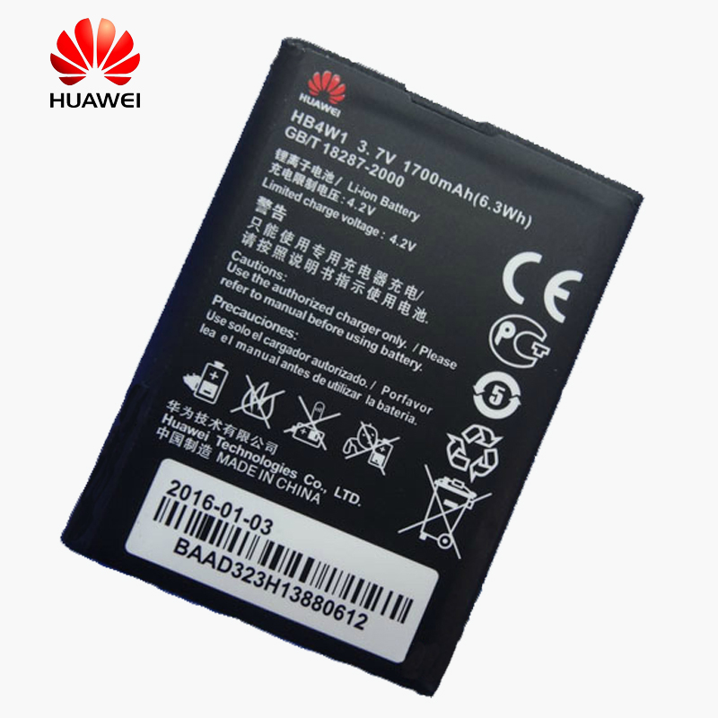 Original Huawei phone Battery for Huawei Y210 Y530 G510 G520 G525 U8951 T8951 C8813/Q/DQ C8813D G525-U00 HB4W1 1700mAh