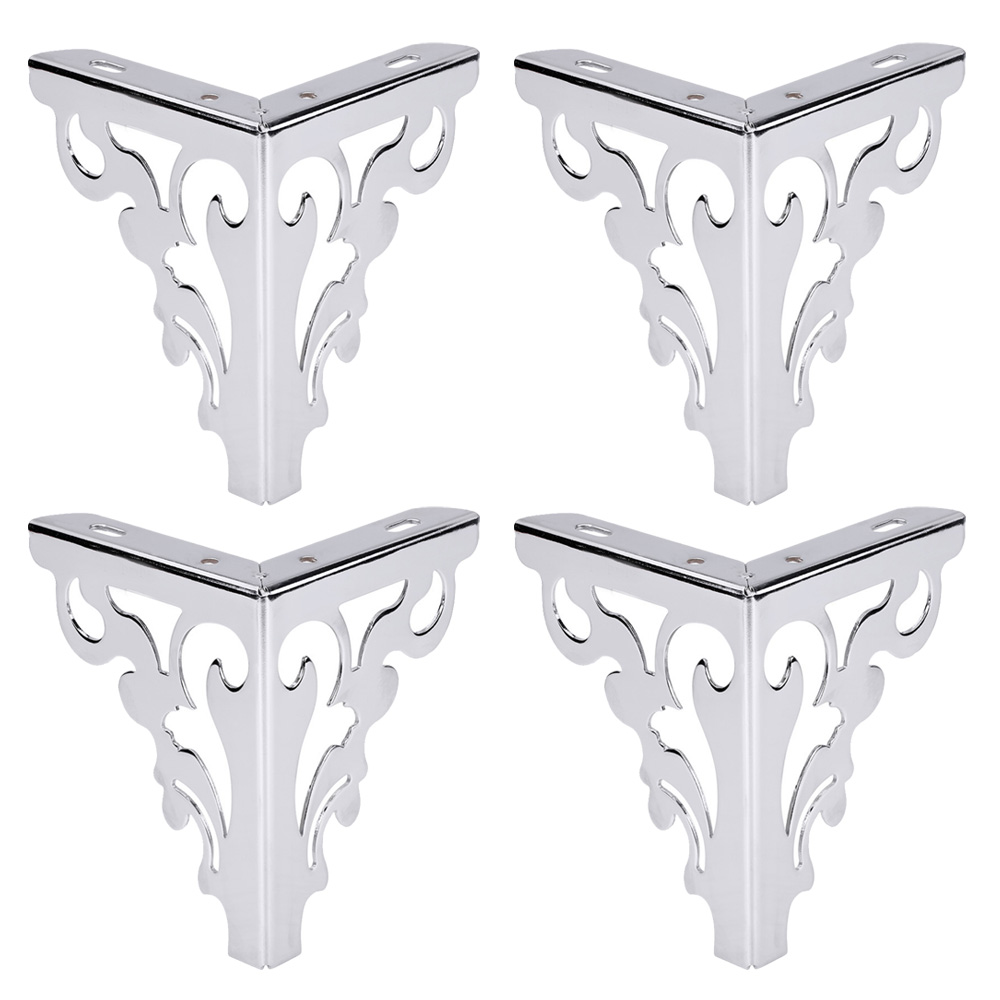 Metal Polished Sofa Chair Legs Modern Hollow Patten Table Cabinet Bed Feet Furniture Accessories Set Of 4 12cm 15cm