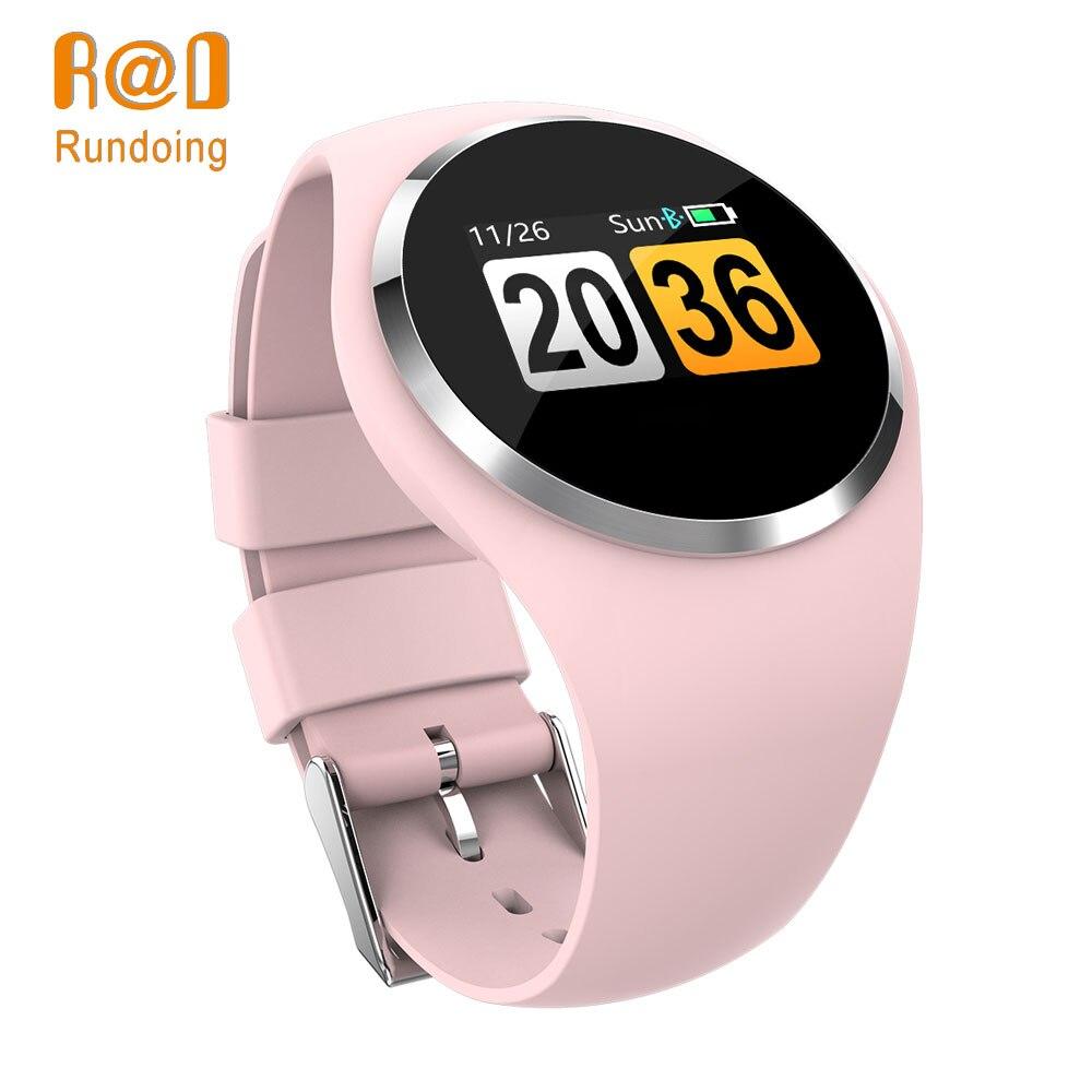 Rundoing Q1 Ecrã LCD a Cores Inteligente Pulseira Heart Rate Monitor de Pressão Arterial inteligente banda de Fitness Rastreador Inteligente Pulseira senhoras
