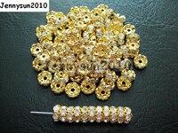 200 шт./лот 10 мм Одежда высшего качества чешский прозрачный кристалл горного хрусталя проложить волнистые Rondelle металлическая распорка свобо...