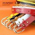 2016 new women punk strap ladies patent leather rivet riemen colorful fashion kemer female pu belt high quality wholesale