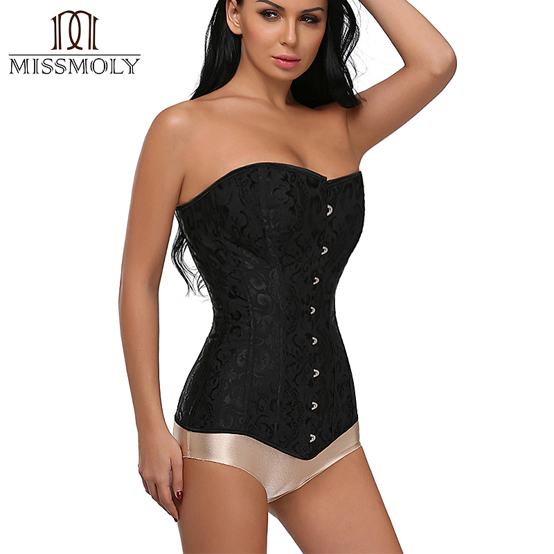 Miss Moly Steampunk Steel Boned Overbust Long Torso   Corset     Bustier   Waist Trainer   Corsets   Shapewear Cincher Plus Size Corselet