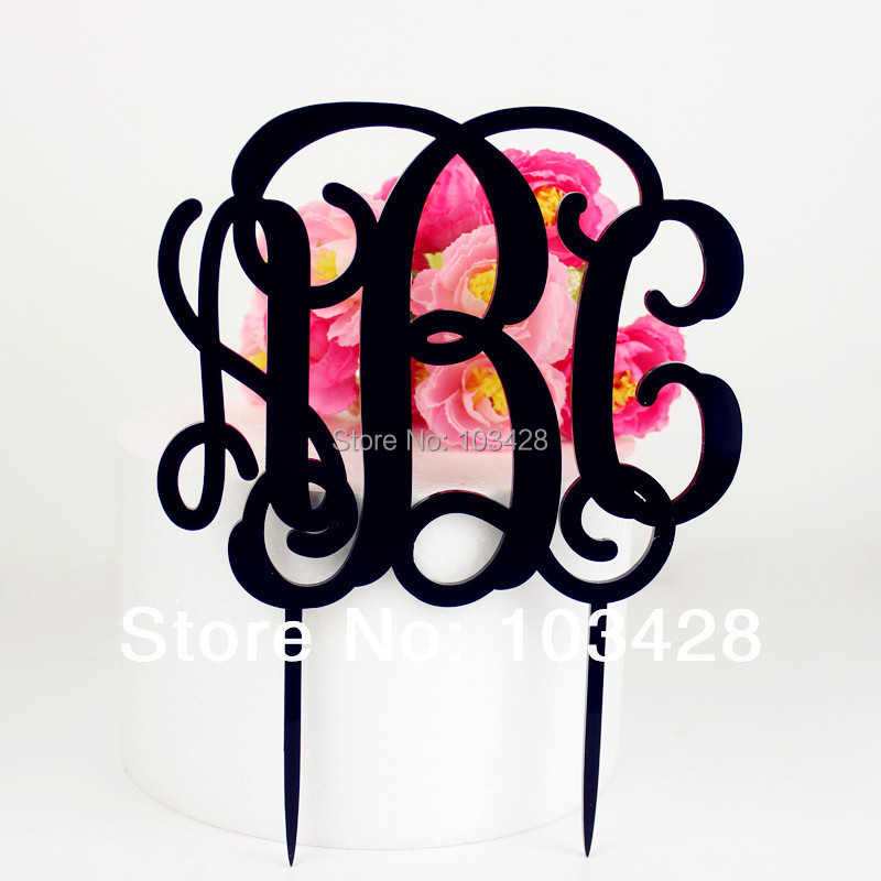 acrylic wedding cake toppers monogram monogram wedding cake topper personalized monogram acrylic 10538