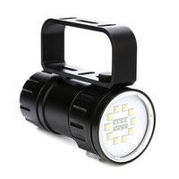 80m LED Diving Flashlight Underwater Light IPX8 Waterproof Torch Searchlight Work Hunting Spotlight Photography Camera Lamp