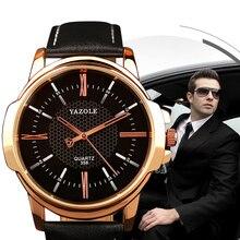 YAZOLE 2019 Fashion Mens Watches Top Brand Luxury Quartz Watch Casual Waterproof High Quality Clock Wristwatch Relogio Masculino