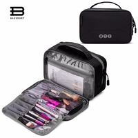 BAGSMART Travel Organizer Toiletry Bag WaterProof Comestic Bag Multi Function Portable Bag For Make Up Brush