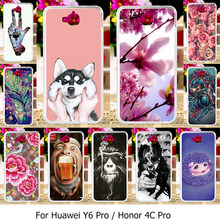Ojeleye Silicone Phone Cover Cases For Huawei Y6 Pro Honor4C Pro TIT-AL00 TIT-L01 TIT-U02 Enjoy 5 Honor Holly 2 Plus Case TPU(China)