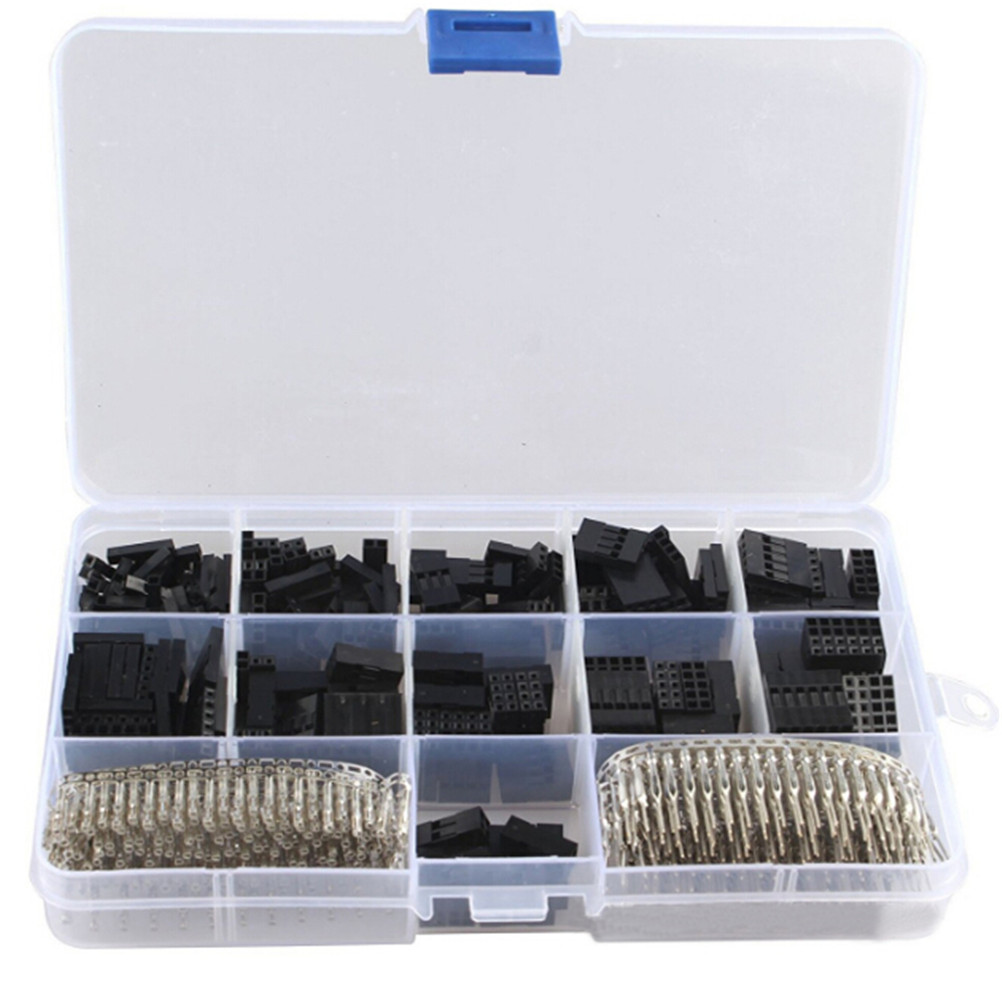 620pcs Header Housing Kit Jumper Wire Pin Connector Male Crimp Pins+Female Pin Terminal Connector Cable