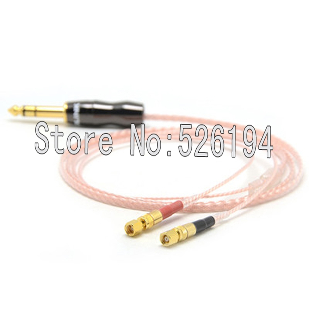 Free shipping 1.2Meter 6.35mm plug 8 Cores 5n Pcocc copper Headphone Upgrade Cable for Hifiman He-5 He-6 He-400 He-500 He560 цена и фото